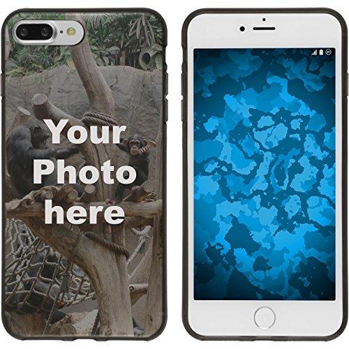 PhoneNatic Case kompatibel mit iPhone 7 Plus / 8 Plus Personalisierte Handyhülle schwarz zum selbst gestalten mit eigenem Foto