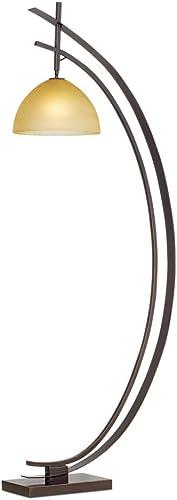 lowest Pacific Coast Lighting Orbit 2 Crescent discount Metal & Glass 2021 Floor Lamp in Bronze/Gold online sale