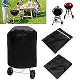 Janolia Grillabdeckung, Round Grill Cover, wasserdicht UV-beständig reißfest, ideal für Outdoor und Indoor. Schwarz, 70x70cm