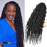 Jungle Box Braids Butterfly Box Braids Crochet Hair 20 inch 6 Packs Boho Goddess Knotless Braids Pre Looped Butterfly Braids Crochet Hair for Black Women