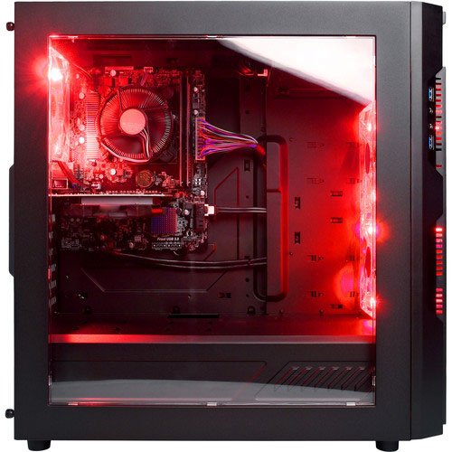 CyberpowerPC Gamer Ultra Desktop with AMD FX-6300 CPU, 16GB DDR3, NVIDIA GTX 1050 Ti 4GB, 2TB HDD, 24X DVD+-RW and Windows 10 Home (GUA600)