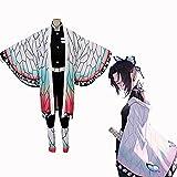 ZOSUO Disfraces Disfraces Demon Slayer Cosplay Kochou Shinobu Adulto Uniforme Saco Camisa Pantalones Polainas *2 Cinturón Atuendo Completo,Multi Colored,S