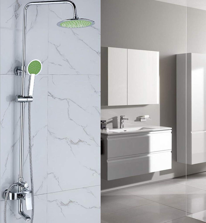 GWFVA Badezimmer-Duschmischer-Set, Duschset, Unterwasserdusche, Unterputz-Wanddusche, Handbrause