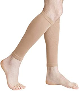 丈夫な男性女性プロの圧縮靴下通気性のある旅行活動看護師用シントスプリントフライトトラベル - 肌色