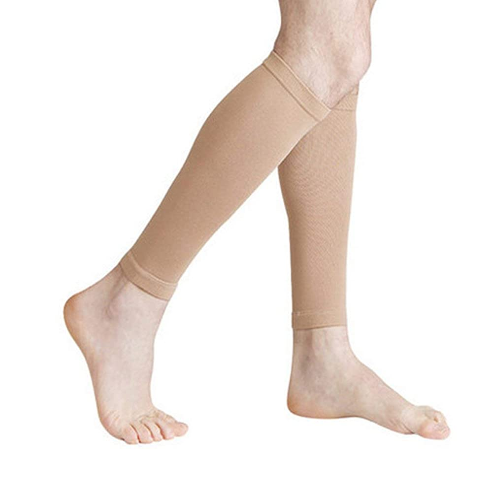 イベント法医学仕立て屋丈夫な男性女性プロの圧縮靴下通気性のある旅行活動看護師用シントスプリントフライトトラベル - 肌色