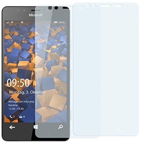 mumbi Schutzfolie kompatibel mit Microsoft Lumia 950 Folie klar, Bildschirmschutzfolie (2X)