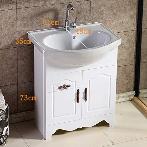 LCF Witte badkamer-ijsblok, roestvrij stalen keukenspoelbak, 1,5 GPM-kraanolie, zeef brons, badkamer-eisjesbovenkant met badbakkom