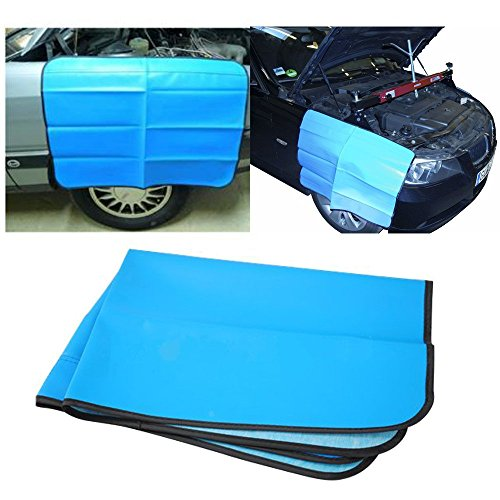 Jecr Magnetic Car Fender Cover - Car and Truck Work Mat Protector for Mechanics - Paintwork Protect Fender Wing Cover - Heavy Duty Premium 32' x 24' Mat