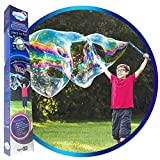 WOWMAZING Space Theme Giant Bubble Kit: Incl. Wand, 2 Big Bubble Concentrate Pouches and 8 Glow-in-The-Dark Stickers | Outdoor Toy for Kids, Girls | Bubbles Made in The USA…