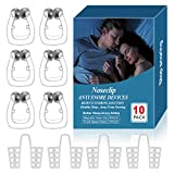 Upgraded Snoring Solution,Anti Snoring Device,6 Magnetic Nose Clips,4 Nasal Dilators with Environmental Plastic Box,Silicone Anti Snore Clipple,Comfortable & Professional,2 Choices for Deep Sleep.