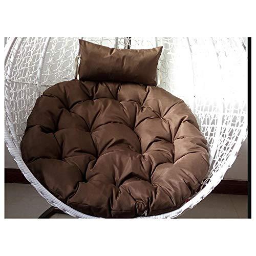 Korbsessel Sessel, Hängesessel Swing,Für Indoor Outdoor Home Terrasse Deck Garten, Lesen Freizeit Anti-rutsch Seat Dämpfung105cm(41inch) (Color : Brown, Size : 105cm(41inch))