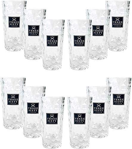 Three Sixty Vodka Wodka Shotgläser Gläser Glas Set - 12 Stück 2 und 4cl geeicht