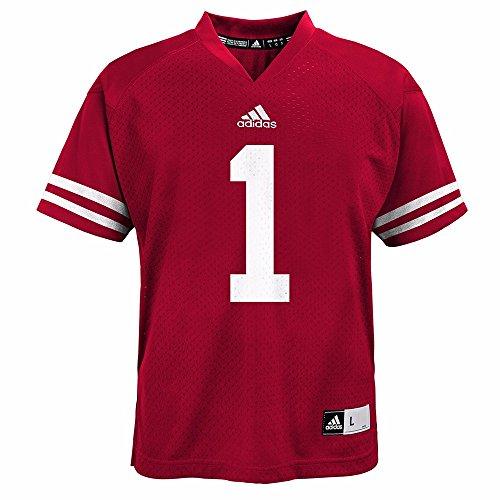 Adidas NCAA Wisconsin Badgers #1 Toddler Boys 4-7 Replica Football Jersey (Boys Medium (5/6))