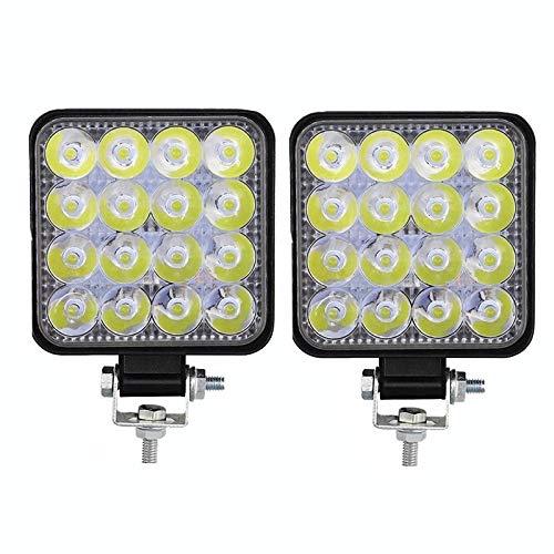 Drdcsad Searchlight LED Work Light Spotlight 12V LED Light 4 * 48W Bar For Truck Offroad Truck 48W Engineering vehicle searchlight Car Headlight (Color : 96W 2 pcs, Lumens : 4800Lm)