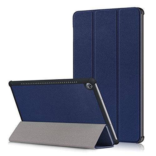 Funda Huawei MediaPad M5 10.8 Case, Smart Cover Protectora de Cuero con Función de Soporte para Huawei MediaPad M5 10.8 Pulgadas Tableta con Auto Sueño & Estela Función, Índigo