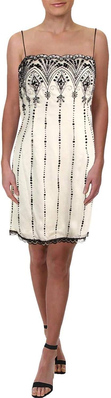 Xeniya Womens Silk Beaded Cocktail Dress
