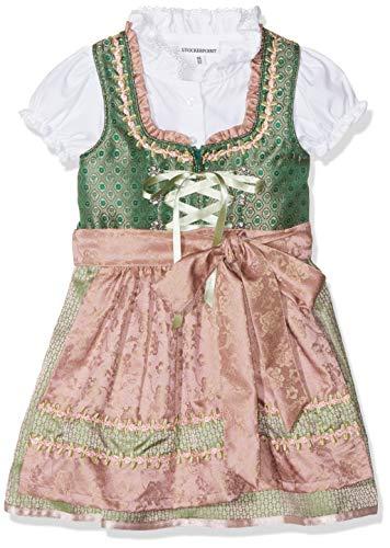Stockerpoint Mädchen Kinderdirndl Jasmina Dirndl, Mehrfarbig (Grün-Altrosa Grün-Altrosa), 122