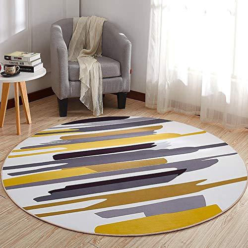 WANGXN Rund Teppich 3D-Druck Modernes Muster Teppich Krabbeln Mats Spieldecke Schlafzimmer Kinder Rund Teppich,180cm