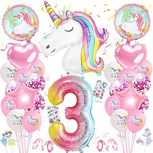 Globos Numeros Gigantes Unicornio,Cumpleaños Niñas Unicornio,Globo Numero Unicornio,Globo de...