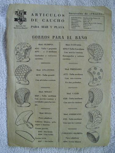 Catálogo - Catalog : GORROS PARA EL BAÑO, SALVAVIDAS Y FLOTADORES - FRACSA