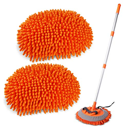 Sfumoc 2 in 1 Extendable Car Wash Brush Kits Mop