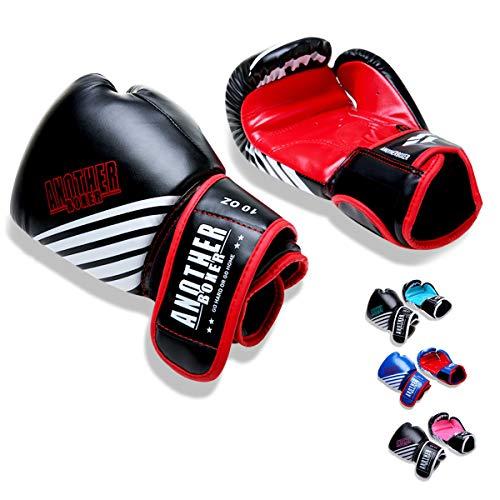 OLYSPM Guantes de Boxeo para niños|4oz-14oz|para Entrenamiento,Combate,Kickboxing,Lucha|Guantes de Box Color múltiple(Rojo)