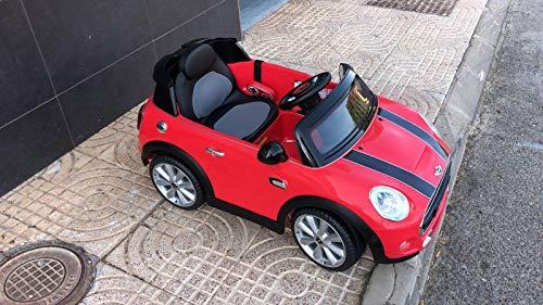 Indalchess Mini Cooper 6V para NIÑOS, Rojo, Mando RC Parental - SK-R4088R