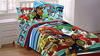 R&L Nickelodeon Paw Patrol Hero 5pc Full Size Comforter and Sheet Set Bedding Collection