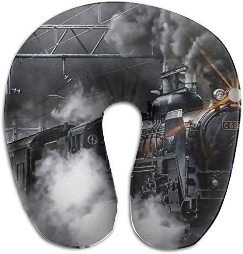 Hdadwy Almohada de Espuma viscoelástica para el Cuello con Forma de U ahumada Almohada de Viaje Diseño ergonómico Contorneado Funda Lavable para avión Tren Coche Autobús Oficina