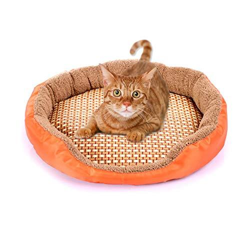 Ovale vorm Modieus Mooi schattig Hond Kat Zomer Mat Huis Bed Zacht Ademend Huisdier Slaapmat Huisdieren Honden Dierenkussen