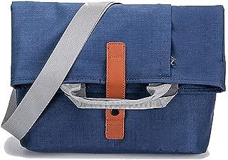 Men's Waterproof Oxford Cloth Retro Messenger Bag Multi-Function Handbag Sports Shoulder Messenger Bag