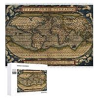 INOV 世界地図1570年 ジグソーパズル 木製パズル 500ピース キッズ 学習 認知 玩具 大人 ブレインティー 知育 puzzle (38 x 52 cm)