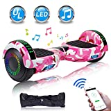 UNI-SUN Graffiti Hoverboard for Kids, 6.5' Self Balancing Hoverboard with Bluetooth and LED Lights, Bluetooth Hover Board, Graffiti
