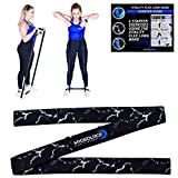 Vitality Flex Long Fabric Resistance Bands Pull Up Assistance Non-Slip Elastic Full Body Exercise Band – Home Gym Fitness Strength Training Legs and Butt Workout 3 Options (Black/Medium-Heavy)