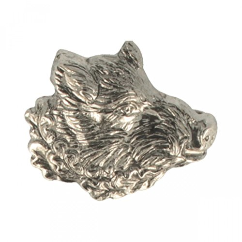 Hutanstecker | Hutabzeichen | Jagdabzeichen | Trachten-Anstecker - Wildschwein – 2,5 x 2 cm - 100% Messing