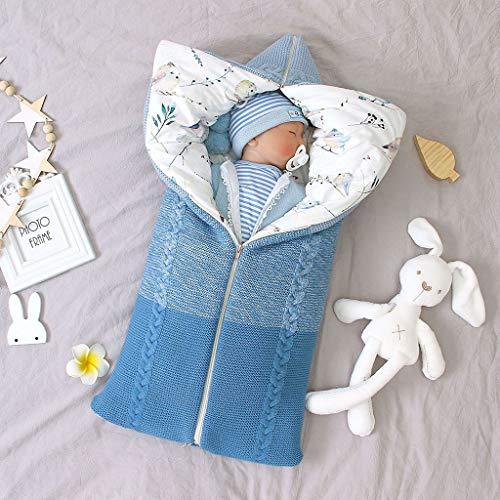 Bulawlly Buggy Chancelière Universelle Baby Foot Muff Baby Foot Muff Hiver Chancelière bébé Seat avec Zip Sensuel Sac Blanket Poussette de bébé Lavable verrouillables Chevet,Bleu