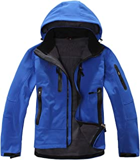 Men Winter Hooded Outwear for Windproof and Waterproof Soft Coat Shell Jacket