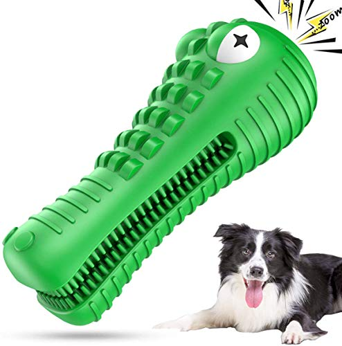ANOVICTOR Durable Dog Chew Toys for Aggressive Chewers Large Breed Tough Medium Dog Toothbrush Puppy Teething Toys Interactive Squeaky Dog Dental Toys