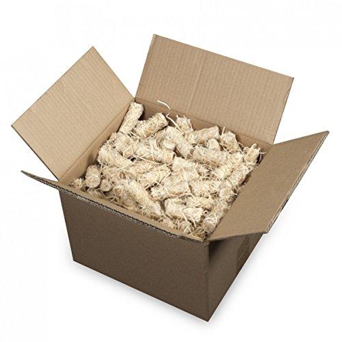 mgc24® Anzünder aus Holzwolle und Wachs Ofenanzünder Kaminanzünder Grillanzünder Ökologisch Kaminholzanzünder Holzanzünder 6kg (ca. 500 Stück)