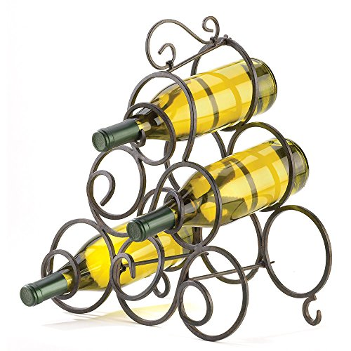 Wine Rack 6 Bottle Holder Oenophilia Metal Free Standing Countertop Metal Iron Stand Buffet Table Decorative Storage
