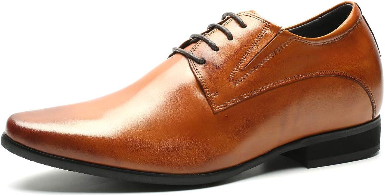 CHAMARIPA Elevator skor herr Mode Oxford Oxford Oxford läder Dress skor Height Ökande skor Formala Dress skor for män -svart  det bästa urvalet av