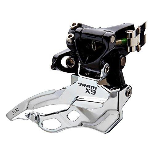 Sram MTB X9 2 x 10 High Clamp 38.2 Top Pull - Desviador para Bicicletas, Color