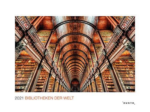 Bibliotheken der Welt 2021: Wandkalender (MONUMENTAL / KUNTH-Wandkalender Grau)
