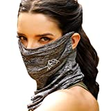 ARRUSA Summer Ice Cotton Cooling Face Cover, Neck Gaiter Dust&Sun-Protection Hair Headband Windproof Scarf for Men & Women Outdoor Sports
