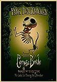 Tim Burton (Tim Burton_S) El Cadáver De La Novia Tim Burton Cartel Retro De Dibujos Animados Decoración Del Hogar Pintura Lienzo Mural Sin Marco T5834 50X60Cm