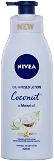 NIVEA Body Oil in Lotion Coconut & Monoi Oil. Scented Moisturiser for Normal to Dry Skin, 400 ml