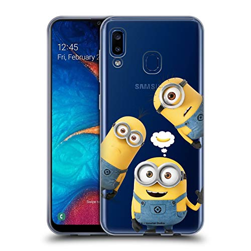 Head Case Designs Officially Licensed Despicable Me Banana Funny Minions Soft Gel Case Compatible with Samsung Galaxy A20 / A30 2019