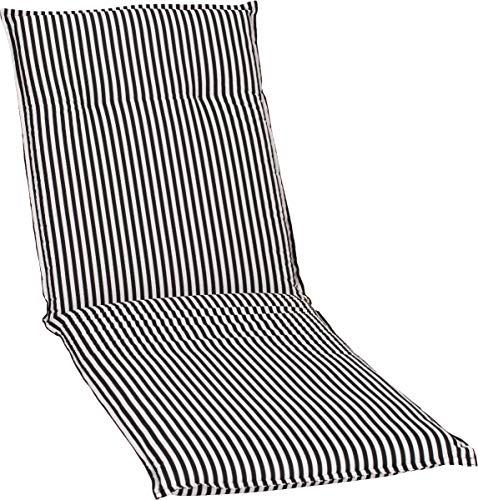 Beo Gartenmöbel Auflage Streifen schwarz Weiss für Gartenliegen BE807 Tupelo