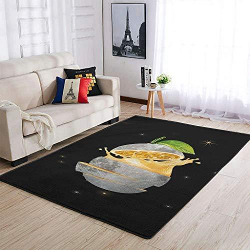 Huffle-Pickffle Alfombra Pass-Ion F-Ruit Mo-on antideslizante, acabado fino, alfombra de suelo para casa, color blanco, 91 x 152 cm