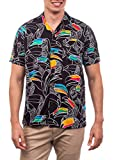 Hurley M Flourish Woven S/S Camisa, Hombre, Black, S
